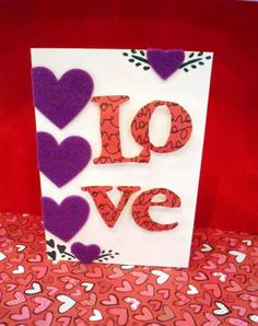Happy Valentine's Day Card  www.facebook.com/qbacanhandmadecards  Valetine's day is coming up. Great Gift for the love one!!!