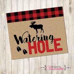 Lumberjack Watering Hole Sign Lumberjack Baby by designsbyVancette