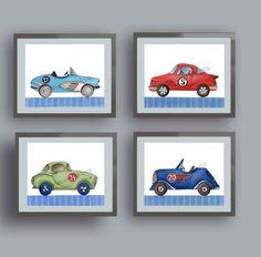 vintage race car art, race car art prints, race car bedroom, race car wall art decor, race car nursery, boy nursery art