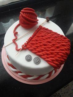 Cupcakes, Cake Cookies, Cupcake Cakes, Just Cakes, Cakes And More, Beautiful Cakes, Amazing Cakes, Grandma Birthday Cakes, Knitting Cake