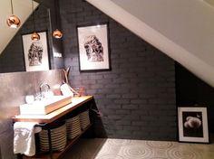Znalezione obrazy dla zapytania cegła w łązience Vanity, Double Vanity, Bathroom Vanity, Bathroom