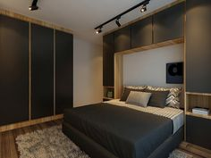Bedroom built ins, condo bedroom, ikea bedroom, bedroom sets, bedroom Ikea Bedroom, Gray Bedroom, Grey Bedding, Trendy Bedroom, Bedroom Bed, Bedroom Storage, Modern Bedroom, Master Bedroom, Bedroom Decor