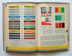 Some pages from Willard Cope Brinton's second book, Graphic Presentation (1939). These pages discuss visibility and color.