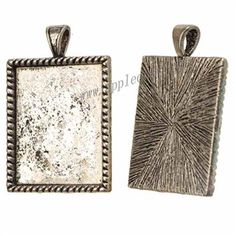 Zinc Alloy Rectangle Pendants,Cabochon Setting,Plated,Cadmium And Lead Free,Various Color For Choice,Approx 37*25*2.6mm,Inner Area:Approx 27*21.5mm,Hole:Approx 3.5mm,No 10710