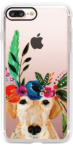 Casetify iPhone 7 Plus Case and other Animal iPhone Covers - Boho Puppy Dog Labrador by Bari J. Designs | Casetify