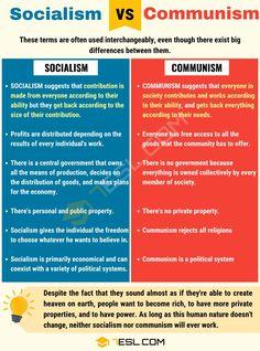 Socialism vs Communism: Differences between Communism vs Socialism - 7 E S L