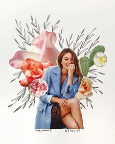 camille rowe flower collage by kate rabbit - No. 97/100
