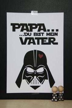 Dekoration - Kunstdruck Darth Vader / Star Wars - ein Designerstück von LaPetitePapeteriePaul bei DaWanda
