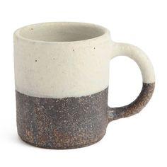 【お皿】「北欧食器から影響をうけたモダンな信楽焼」文五郎窯(ぶんごろうがま)角底コーヒーカップ(2トーン)(通販/楽天)