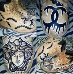 shoes timberland chanel customized