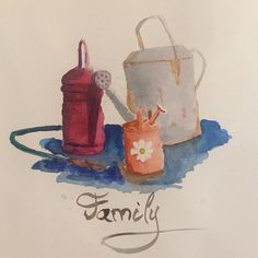 Family #family #watercolor #watercan #countrystyle #illustration