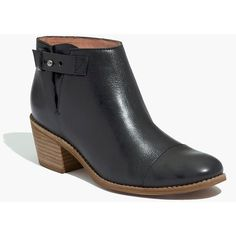 MADEWELL The Dakota Cutoff Boot ($198) via Polyvore featuring shoes, boots, ankle booties, ankle boots, bootie boots, real leather boots, vintage booties, leather bootie and leather ankle booties