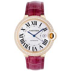 1stdibs | Cartier Yellow Gold and Diamond Ballon Bleu Wristwatch with Date