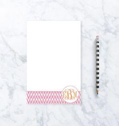 Personalized Stationery - Circle Monogram Notepad