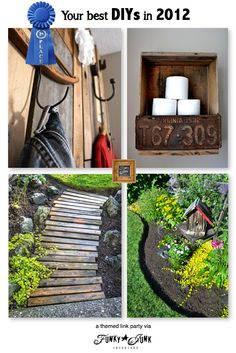 Your best DIYs in 2012 - a themed link party via Funky Junk Interiors    Love the pallet walkway.  Cheap, easy, and stylish idea for the backyard.
