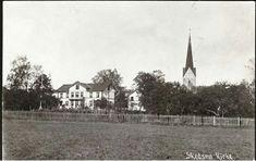 Akershus fylke Skedsmo kommune Skedsmo kirke og prestegård Stemplet 1910. Norway