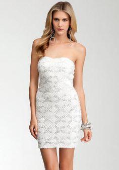 2c4cda0b285 Embellished Lace Strapless Dress.  bestcocktaildress Belk Womens Dresses