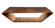 HighTower Brasilia Bentwood Coffee Table. Available in walnut or birch.