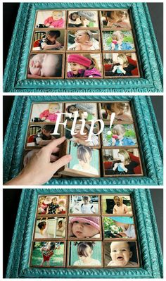 Finding new ways to display cherished #photos in the #home is always rewarding.  Whether you assemble a grouping of random shaped frames or decoupage photographs to wood blocks for a creative flip frame, knowing that you have displayed your loved ones in a unique and creative way makes the presentation even more special.