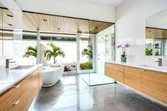 Image result for concrete floor in bathroom