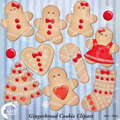 80%OFF Christmas Cookie Clipart, Gingerbread Cookie Clip Art, Gingerbread men,  Cookie clipart, Commercial Use, Instant Download, AMB-1502