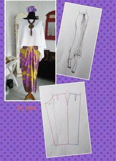 Sewing Pants Tutorial Ideas 67 New Ideas Kaftan Pattern, Pants Pattern, Dress Making Patterns, Easy Sewing Patterns, Batik Fashion, Fashion Sewing, Sewing Pants, Sewing Clothes, Blouse Patterns