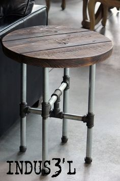 Rustic Industrial Pub Table | Playa Del Carmen Rustic Industrial Lamps & Furniture
