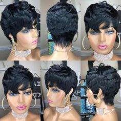 Short Cut Wigs, Pixie Cut Wig, Short Hair Cuts, Short Hair Styles, Short Pixie, Wig Styles, 27 Piece Hairstyles, Quick Weave Hairstyles, Wig Hairstyles