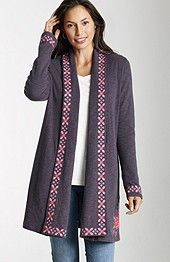 embroidered artisan jacket from j jill