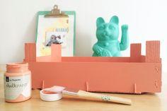 Mad Scrap Project: Diy caja de frutas con chalk paint