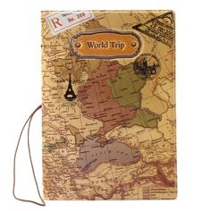 fb35b1dc6 World Tour Map Travel Trip Clutch Passport ID Card Case Cover Ticket  Document Holder - Bags