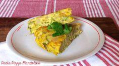 Turmeric potatoes zucchini omelette