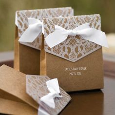 Personalized Vintage Tent Favor Boxes by Beau-coup