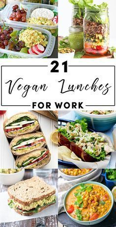 Back away from the PB&J! These vegan lunch ideas are delicious eaten cold or reh… Back away from the PB&J! These vegan lunch ideas are delicious eaten cold or reheated at the office. Up your vegan packed-lunch game! Easy Vegan Lunch, Vegan Lunch Recipes, Vegan Lunches, Vegan Meal Prep, Vegan Foods, Vegan Dinners, Diet Recipes, Healthy Snacks, Healthy Recipes