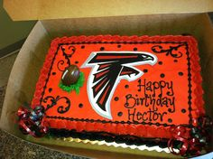 Atlanta Falcon Cake For Hectors Birthday Happy Cakes 1st Parties Team Gifts