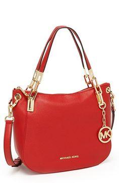 MICHAEL Michael Kors 'Brooke - Medium' Leather Shoulder Bag available at #Nordstrom