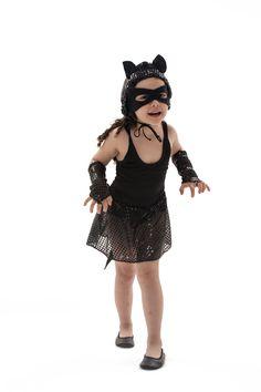 Fantasia infantil de gatinha preta Lezoo
