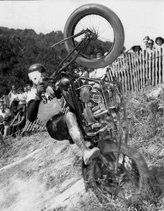 Harland Krause taking on the Motorcycle Hill Climb.
