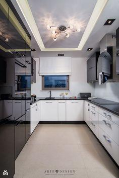Apartament w Gdańsku - Średnia zamknięta wąska kuchnia w kształcie litery u, styl nowoczesny - zdjęcie od Arte Dizain