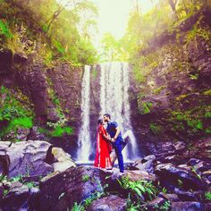 There's nothing we love more than a beautiful pre-wedding shoot especially when captured by @ferndara. This gorgeous pair of adventurers made it all the way to this spot off the Great Ocean Road in Victoria resulting in this magical shot!  Image: @ferndara #photoshoot #waterfall #wedding #FerndaraCreative #TCBPro by thecrimsonbride