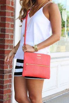 GiGi New York | Salmon cross-body | Style Cusp Fashion Blog