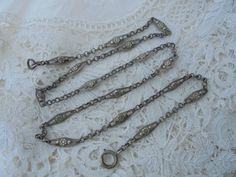 Antique chain 1910 by Nkempantiques on Etsy