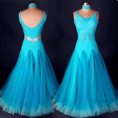 Pas cher Big swing De Luxe strass standard salle de bal robe bleu/jaune/rouge…
