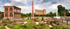 The reconstrcution of Robert Dudley's garden at Kenilworth, with the aviary on the left. from http://www.english-heritage.org.uk/publication...