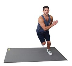 "Gray Matter Large Cardio Exercise Mat 72"" Long x 36"" Wide..."