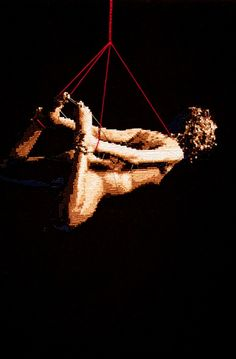 art, cross-stitch, sewing, 2010, Alicia Ross, Untitled (Hogtied Mockette)