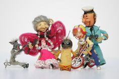 Estonian animation puppets.  @Tartu Toy Museum