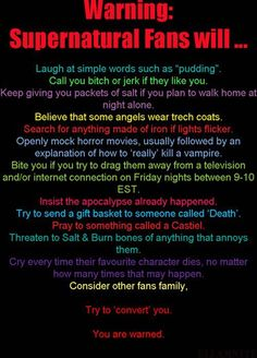The truth behind all of these is so...yeah...this is pretty much the fandom...and i love it.