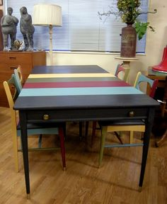 can also be a desk or credenza! Poker Table, Credenza, Mid Century, Dining Table, Desk, Furniture, Home Decor, Desktop, Decoration Home