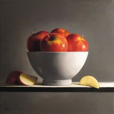 Michael Naples. Bowl of Apples No. 4. Oil on canvas.